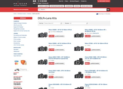 Ecommerce Web Design and Development for Photography